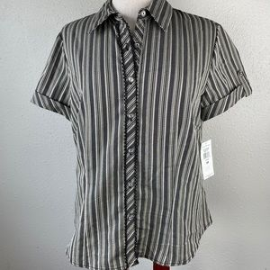 NWT Evan Picone Button Down Shirt Size 10